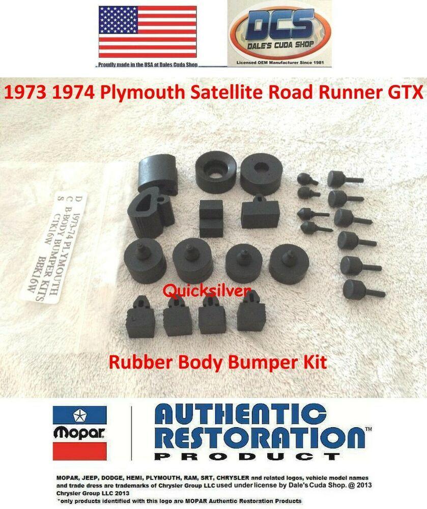 1972 Plymouth Satellite Road Runner GTX Body Bumper Kit New MoPar