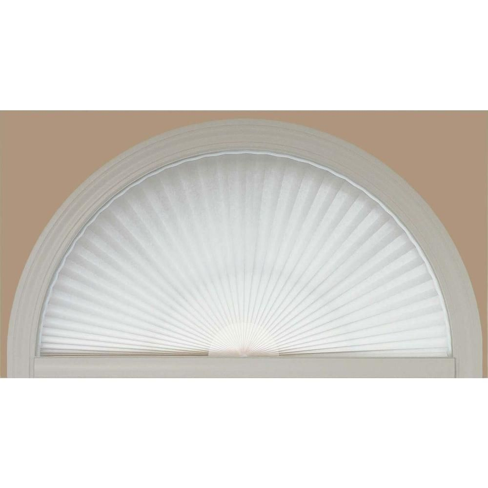 Redi Shade White Fabric Arch Window Shade 72 In W X 36 In L