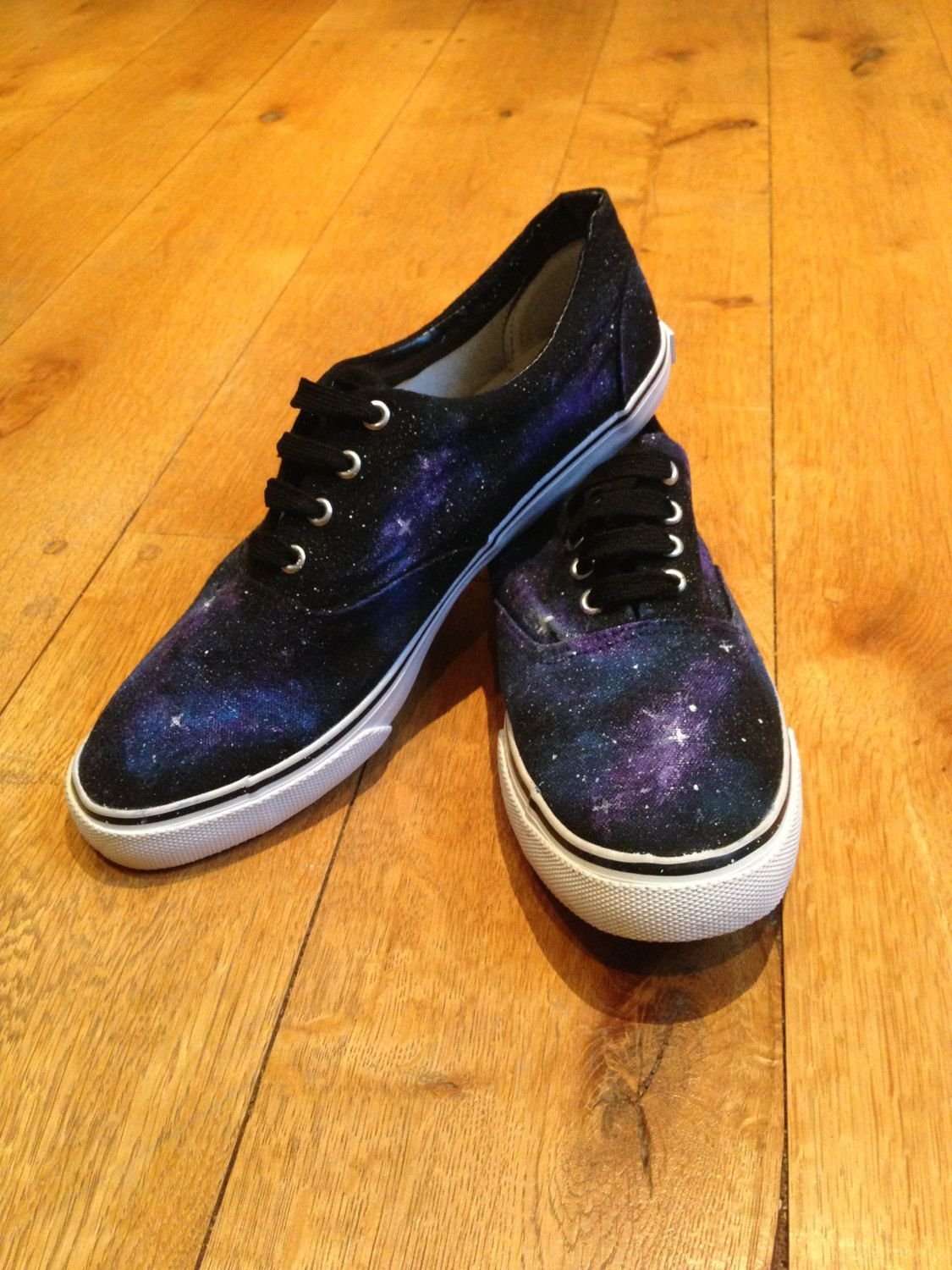 Galaxy painted shoes. £23.00, via Etsy.