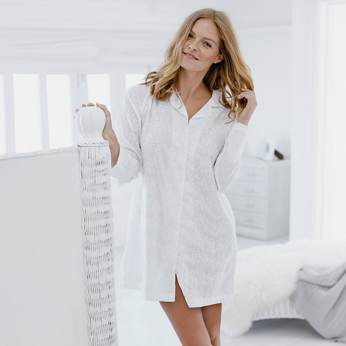 Embroidered Nightshirt - White  49ebaadfc