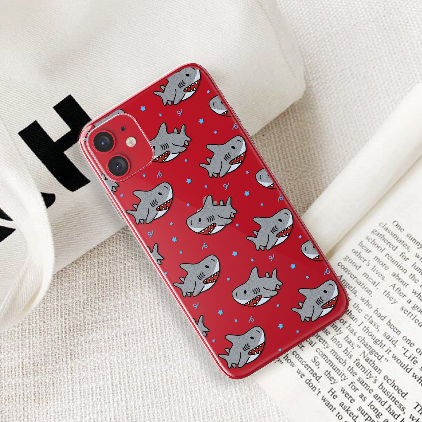 Cute Shark iPhone 11 Case Clear iPhone 11 Pro Case iPhone