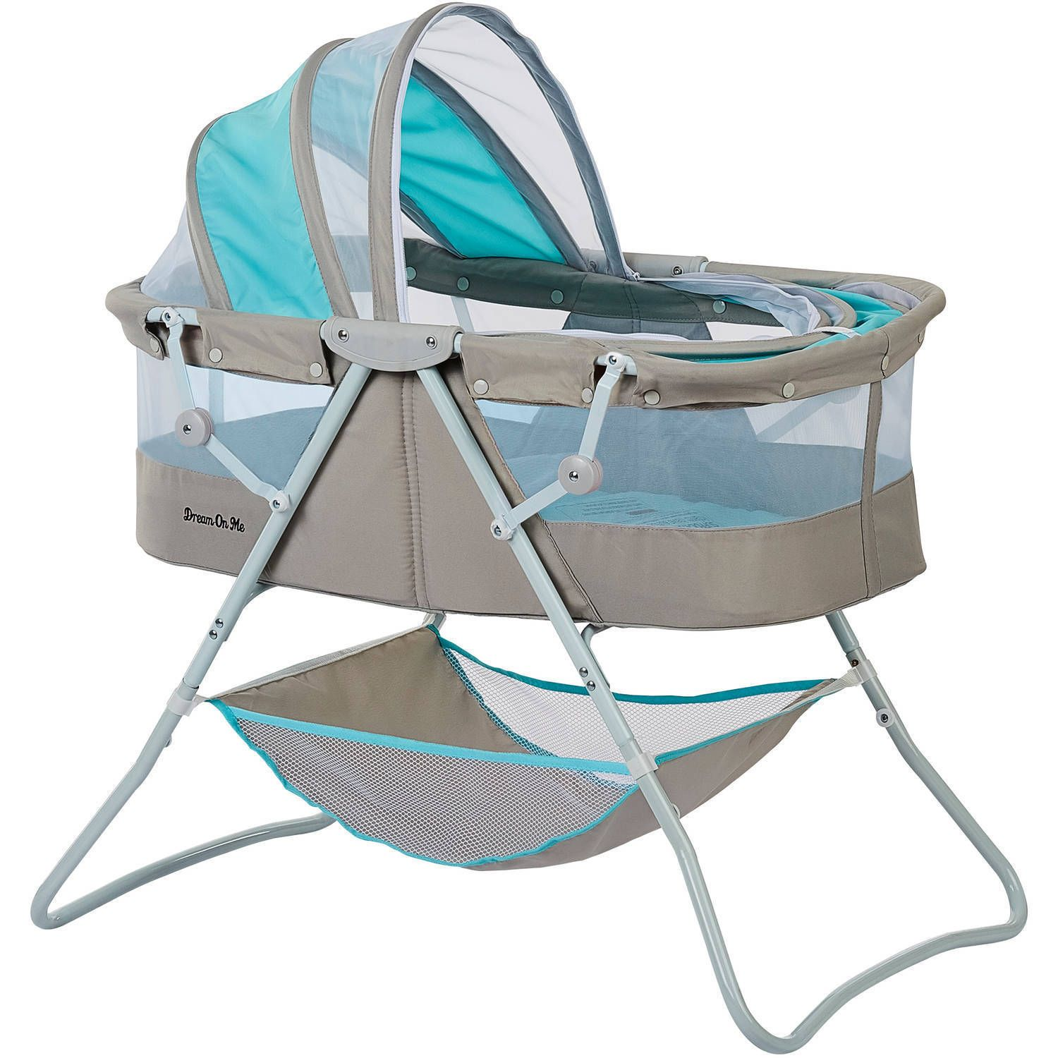Gray Blue Newborn Infant Portable Folding Canopy