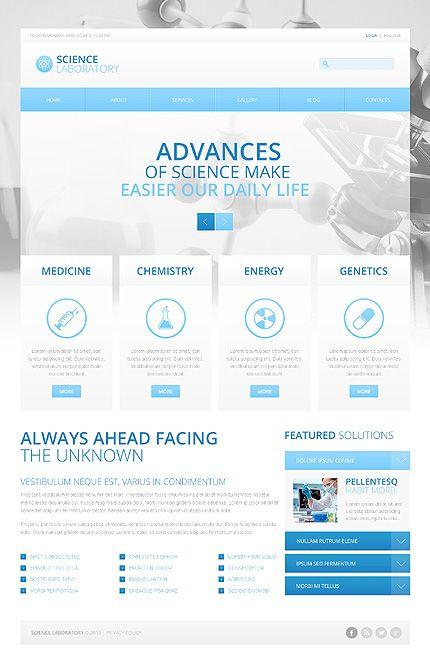 Science Laboratory Medicine Chemistry Genetics Drupal Medical Website Design Medical Design Web Layout Design
