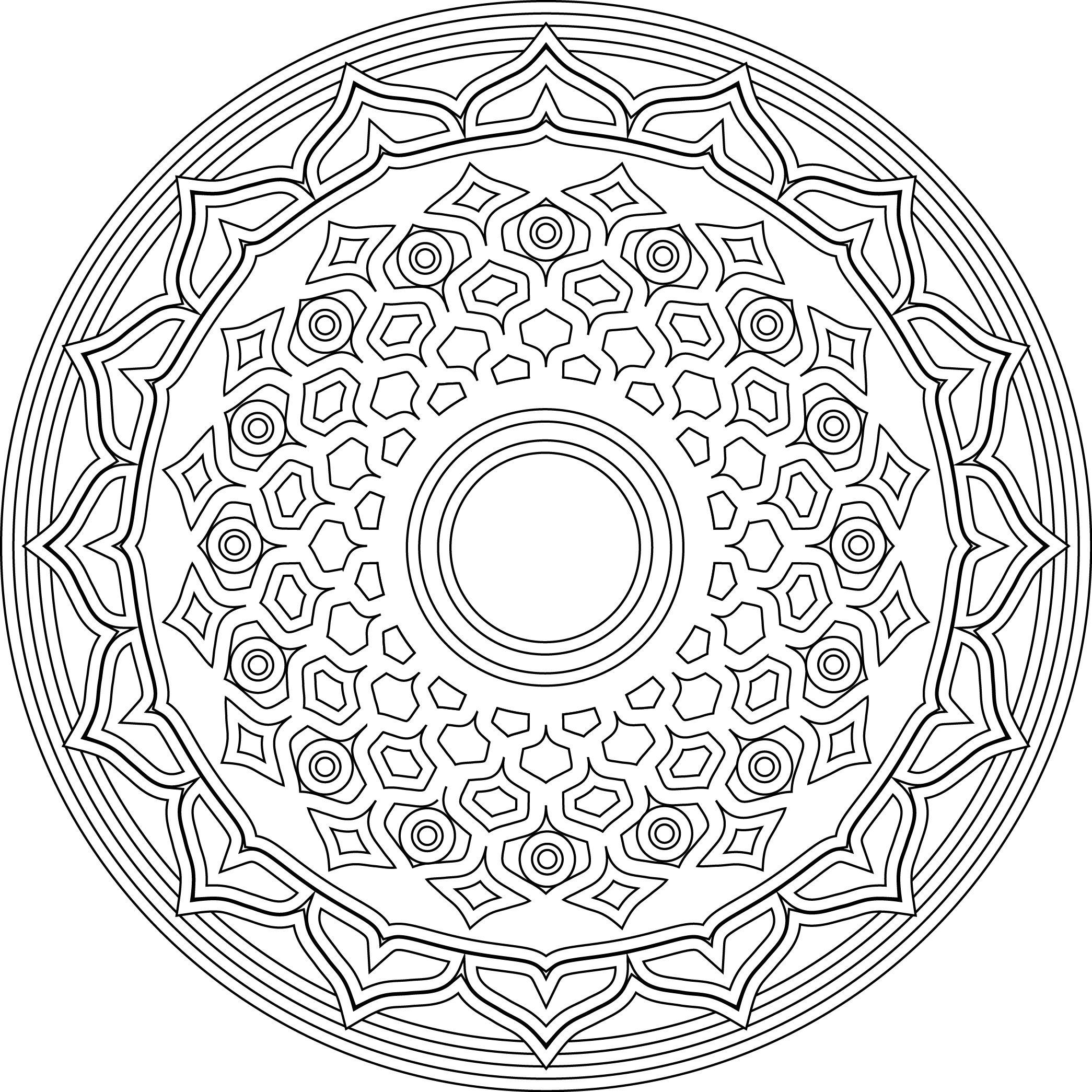 Sahasrara The Crown Chakra Mandala Coloring Pages Coloring Pages Mandala Coloring