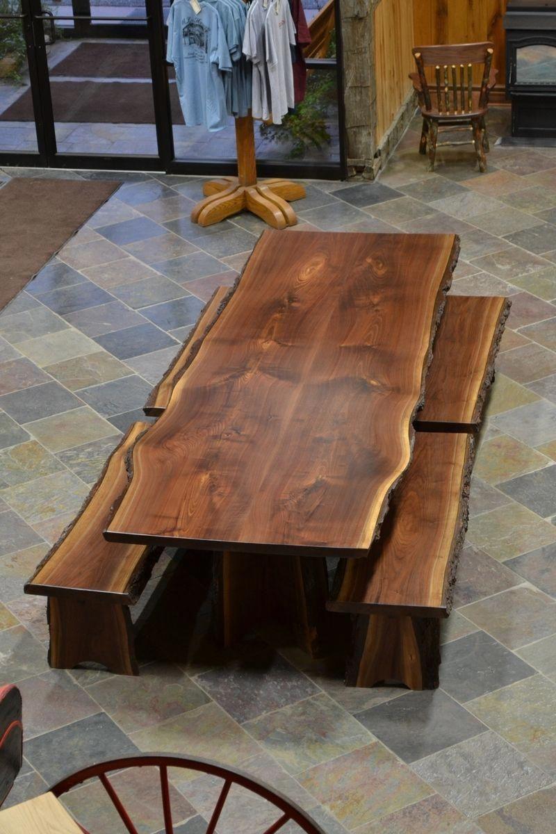 Custom Made Live Edge Walnut Slab Dining Table Liveedgewoodtable