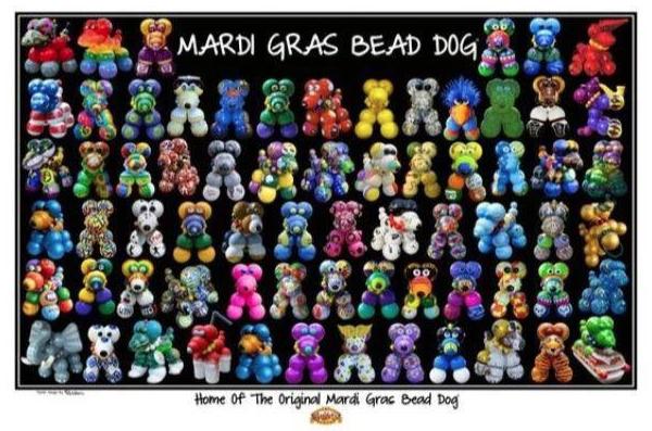 Haydel's Mardi Gras Bead Dog® Poster