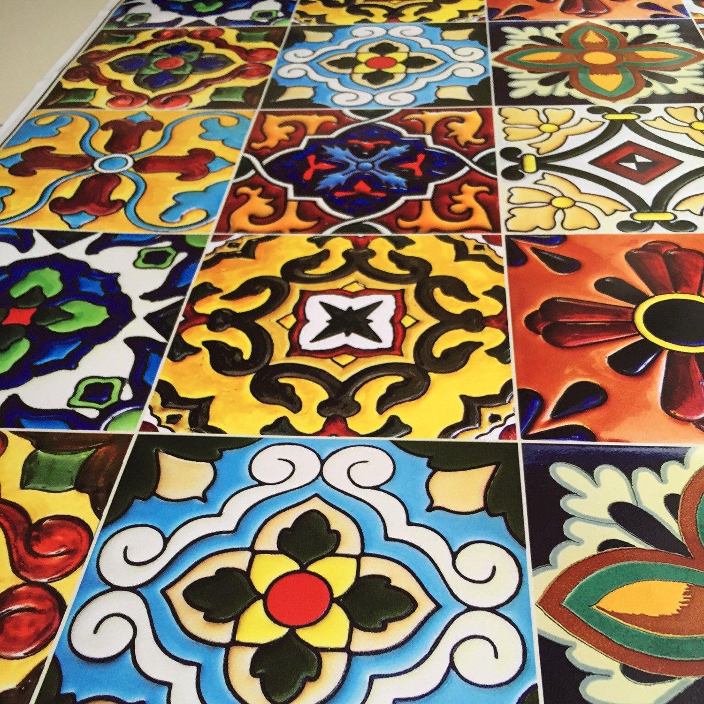 Kitchen bathroom Tile Decals Vinyl Sticker Mexican Spanish Mix
