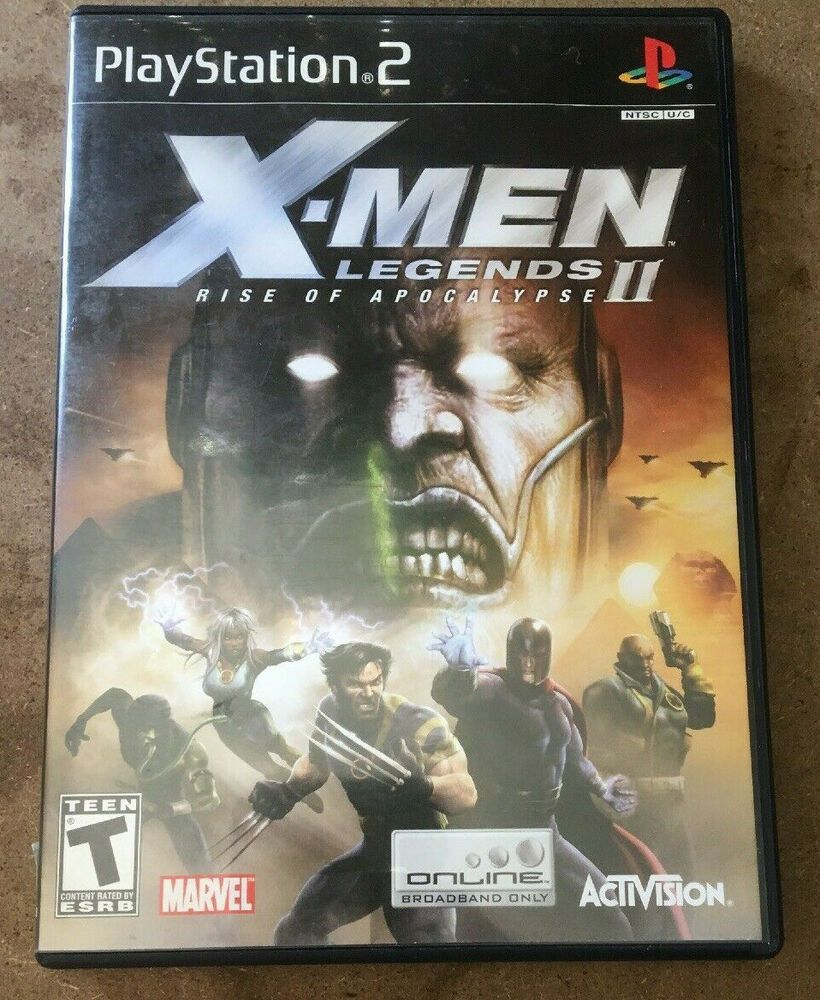 X Men Legends Ii Rise Of Apocalypse Playstation 2 Ps2super Hero Wolverine Ps4 Gaming Video Apocalypse X Men Playstation 2