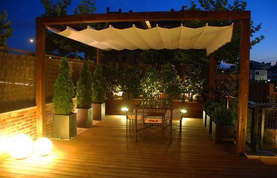 al igual que en el interior en el jardn o la terraza la iluminacin tambin es esencial - Iluminacion Terrazas