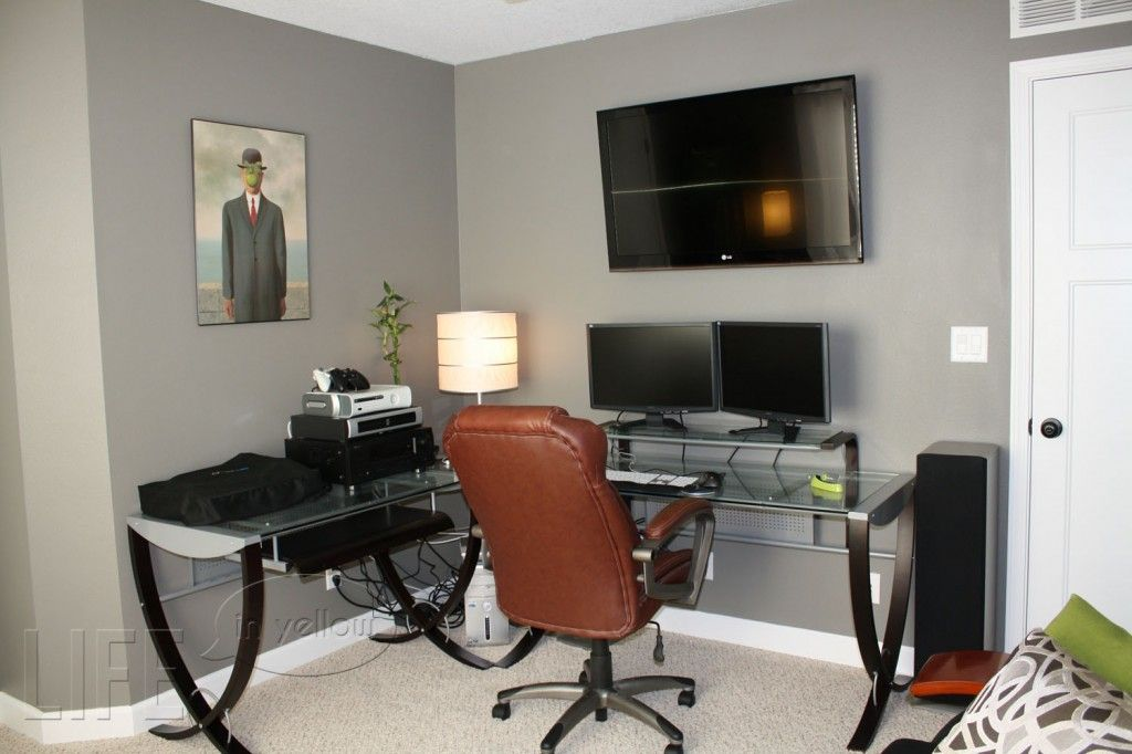 enchanting home office wall colors blue | Best Office Paint Colors | office his storm by valspar ...
