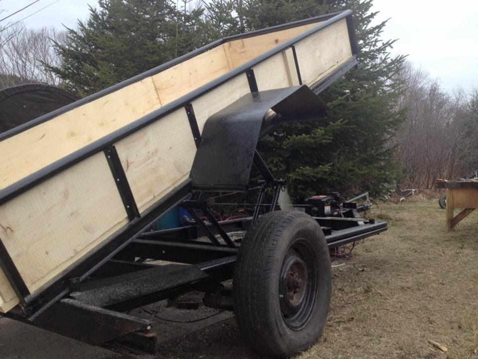 Diy dump trailer with no hydraylics dump trailers