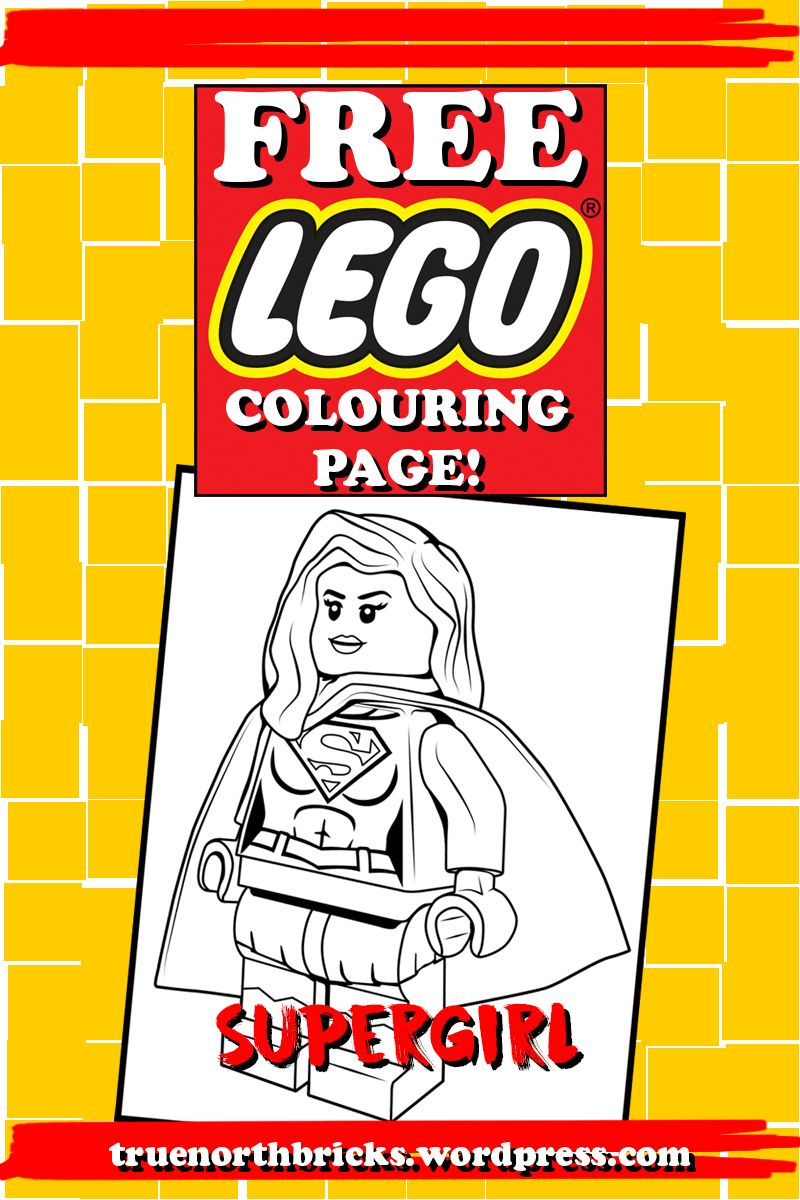 LEGO Colouring Page – Supergirl | Pinterest