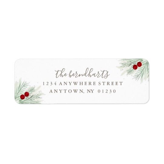 holiday return address label let s be merry in 2018 christmas