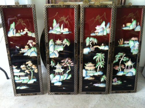 Four Season Decoration Chinese 4 Wall Decor Set Kingwood Clifieds