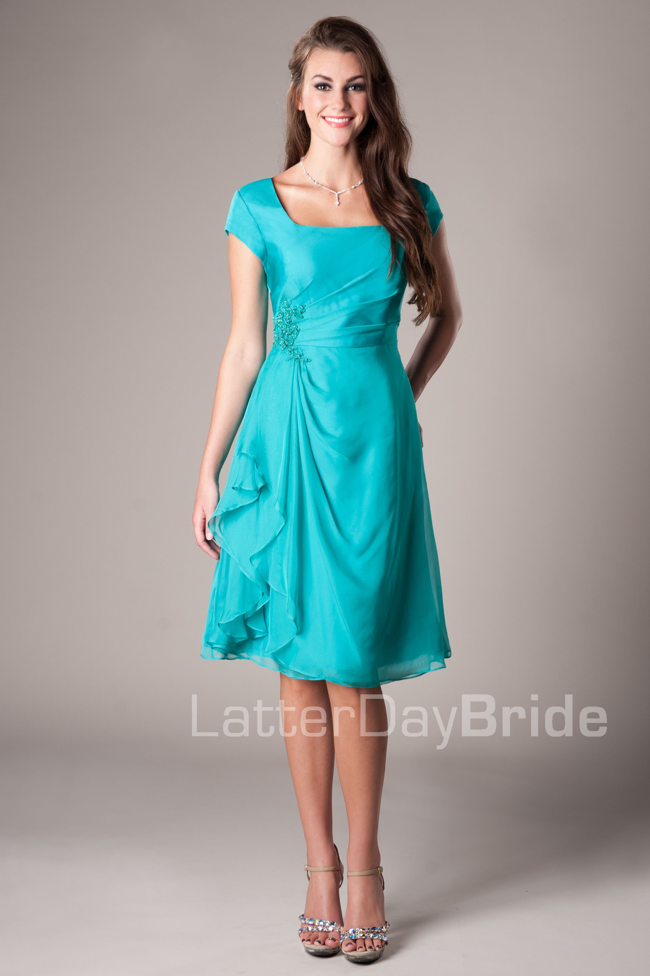 The Bridesmades Dresses(: But orange or yellow(: Latter-Day Bride ...