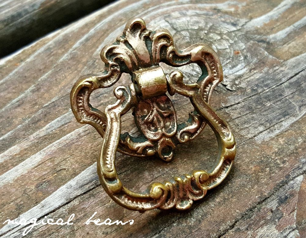 Keeler Brass Co Ring Pulls Brass Drawer Pull Vintage Drawer Pull Art ...
