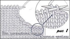 Как убавить петли при вязании рукава спицами