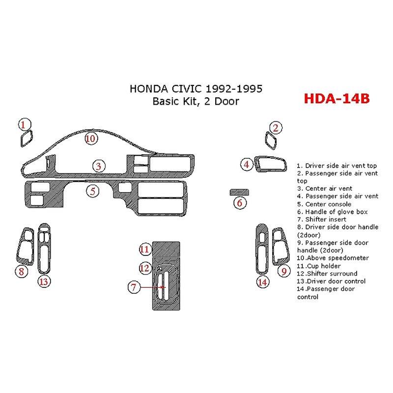 Remin Dash Kit Honda Civic 1995 Honda Civic Civic