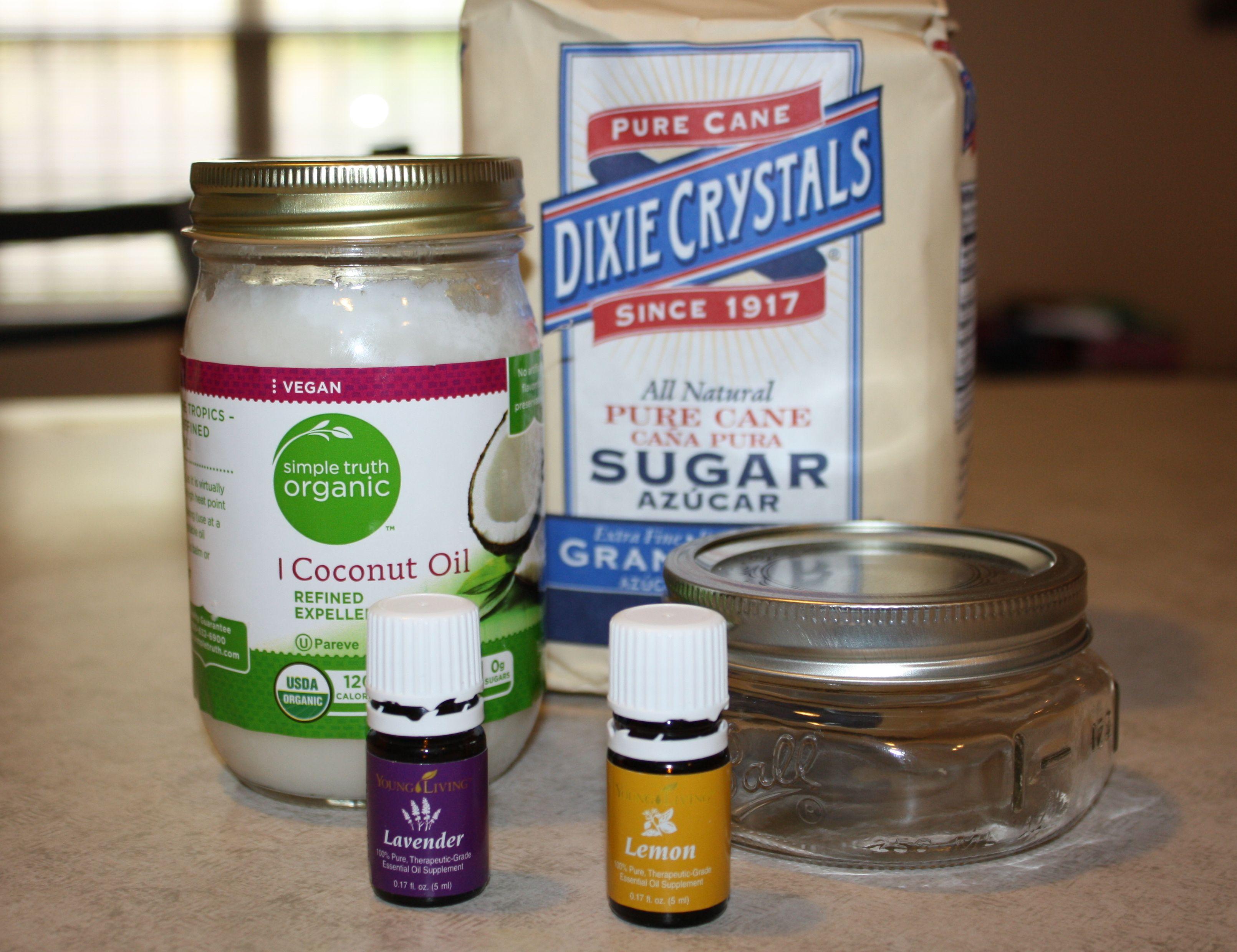 Sugar Scrub Ingredients Lavender sugar scrub, Lemon
