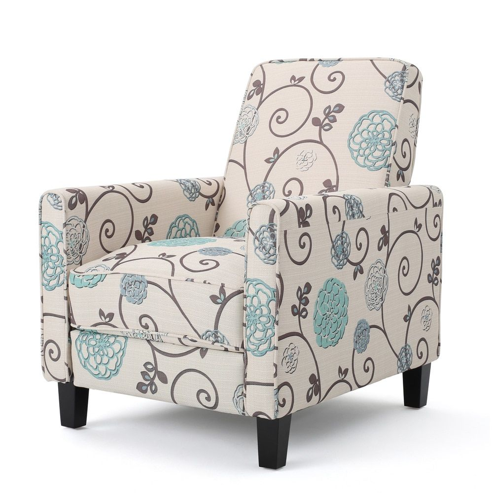 Darvis Floral Fabric Recliner Club Chair by Christopher Knight Home ...