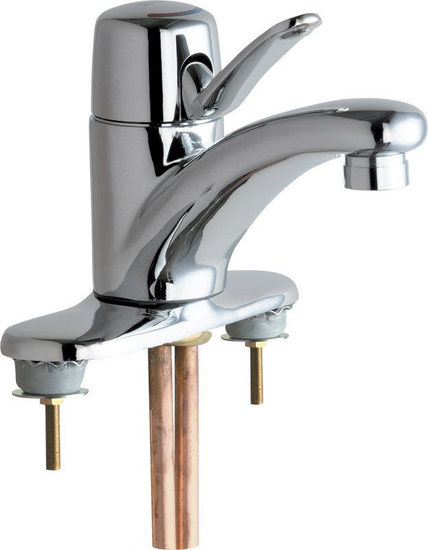Chicago Faucets 2200-4E2805AB Centerset Bathroom Faucet with 4 ...