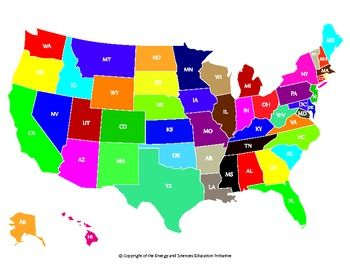 FREE Colorful United States Map With State Abbreviations PDF - Printable us with state abbreviation map