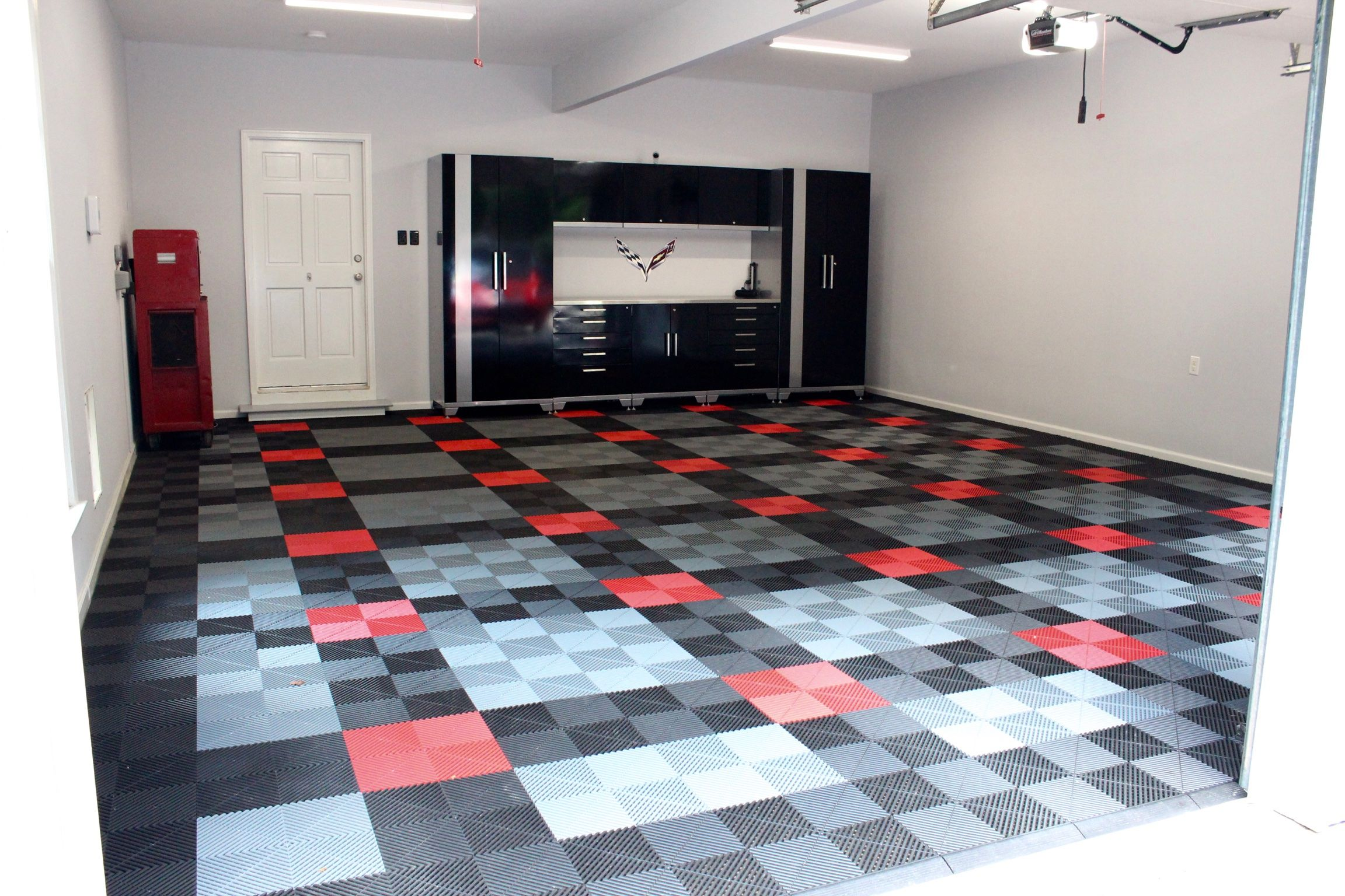 Pin By Jarrett Franz On Garage Garage Design Garage Floor Tiles