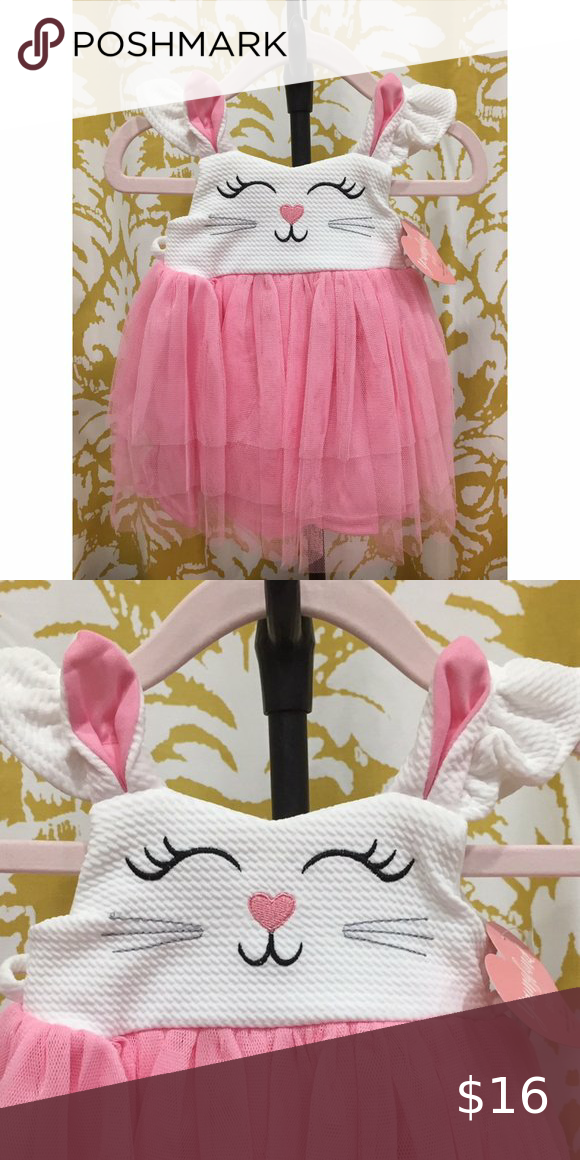 Youngland Baby Girl's Pink Dress - Bunny Adorable bunny dress for baby girls. Brand new with tags, comes with matching pink diaper cover panty. Youngland Dresses Casual