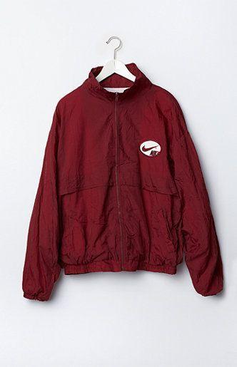 5286d375b166 Retro Gold Vintage Nike Logo Windbreaker Jacket
