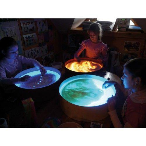 Leuchtk bel sandwanne und leuchttisch in einem von for Raumgestaltung mit kindern