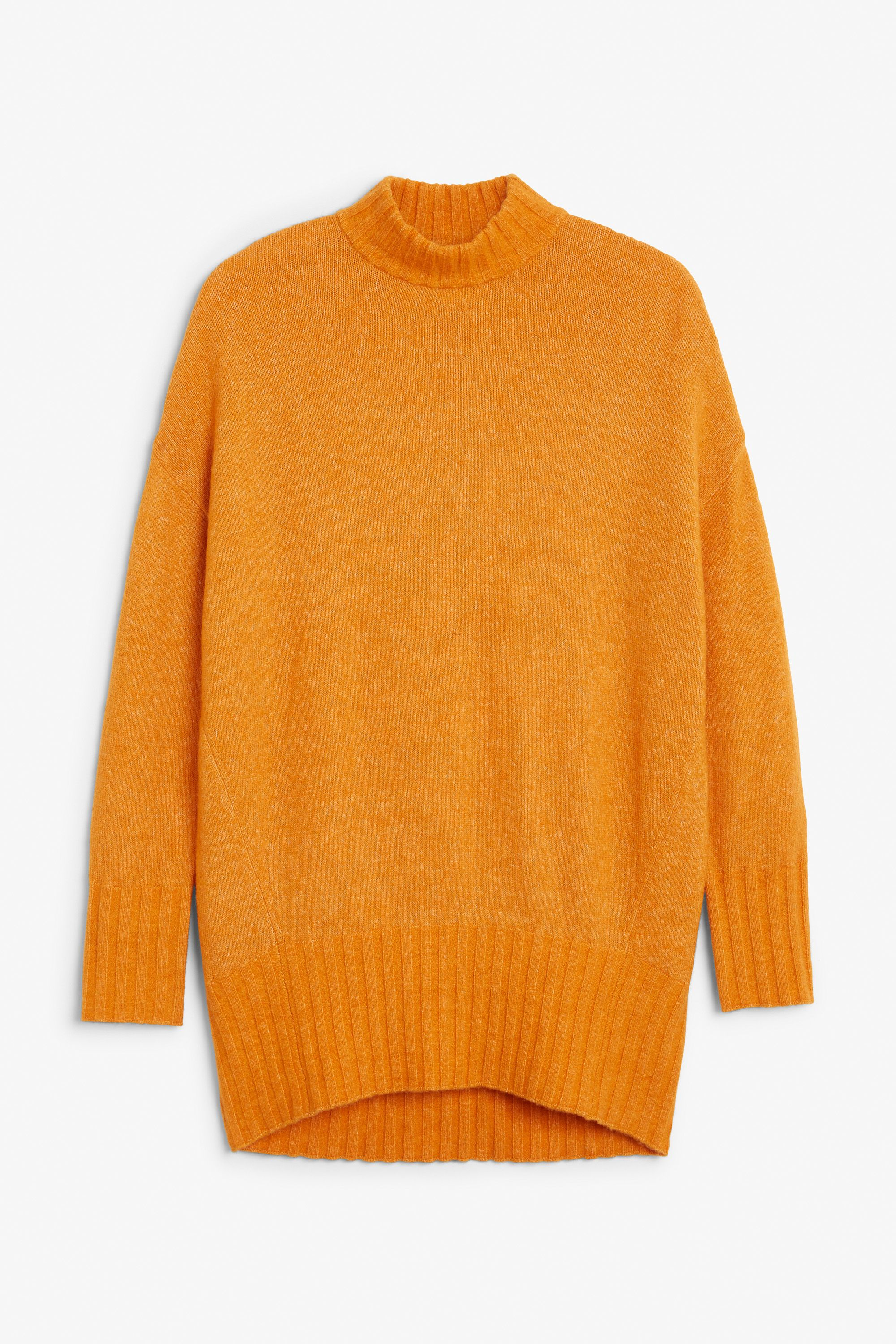Monki Image 1 of Cosy knitted sweater in Yellow Reddish Dark ...