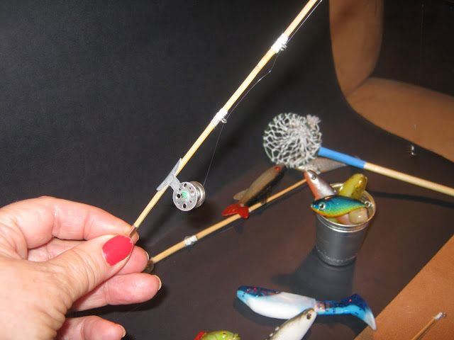 How To Make Miniature Fishing Poles And Items In 1 10 Scale