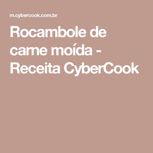 Rocambole de carne moída - Receita CyberCook
