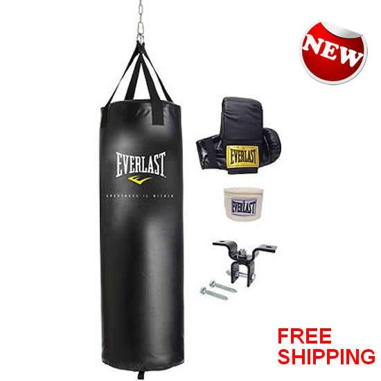 Heavy Boxing Punching Bag 70 Lb Training Gloves Hand Wraps Kicking Mma Workout Boxing Punching Bag Heavy Bags Heavy Bag Stand