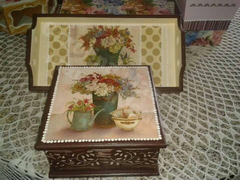 Bandeja y Caja de té pequeña