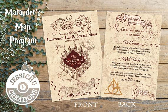 Harry Potter Custom Wedding Stationary