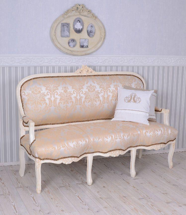 Französische Recamiere Barockes Sofa Salonsofa Weiss Sitzbank ...
