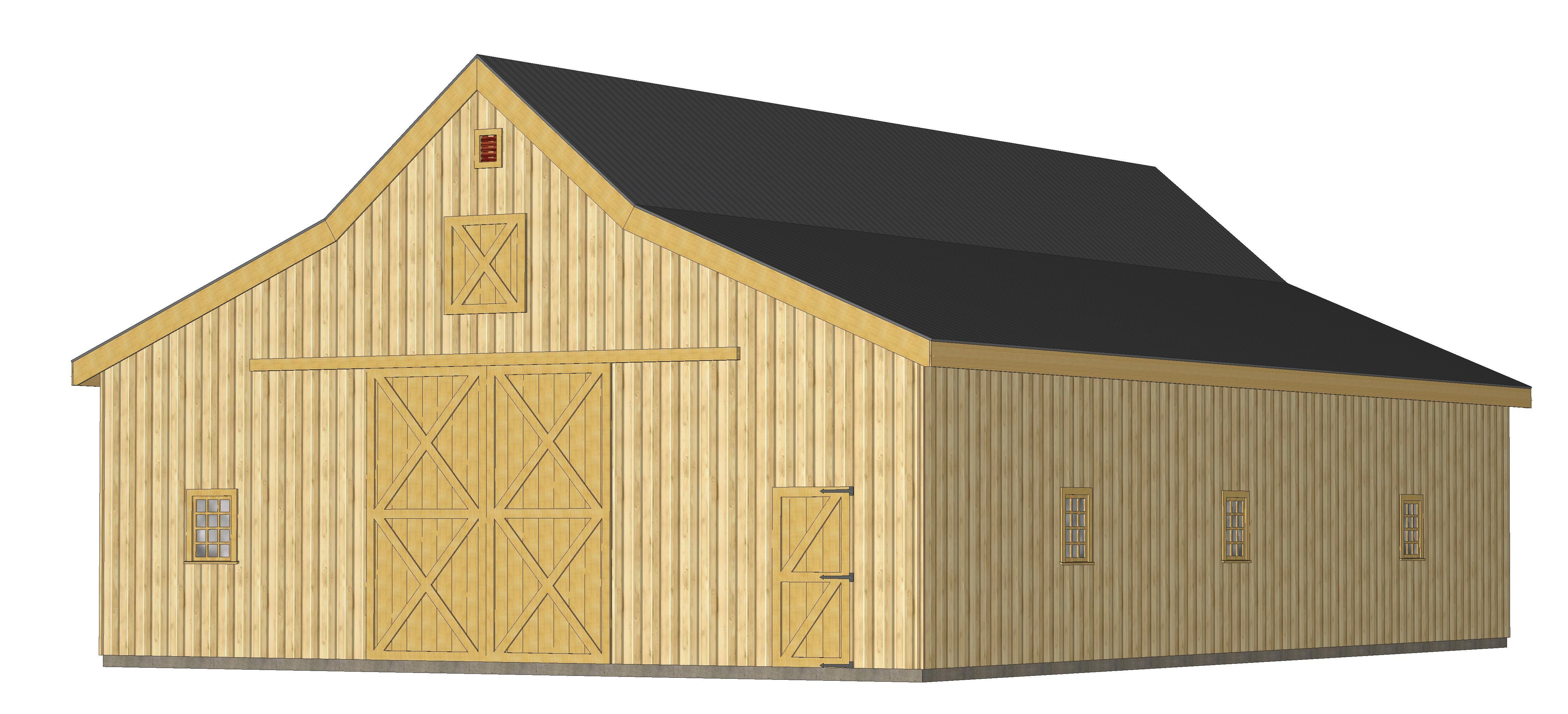 Barn Pre Packaged Wood Pole Kits