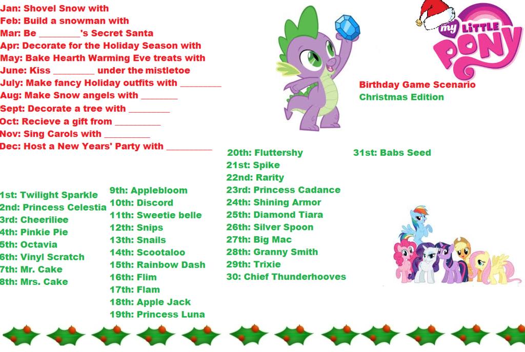 birthday mlp scenarios my little pony christmas scenario birthday