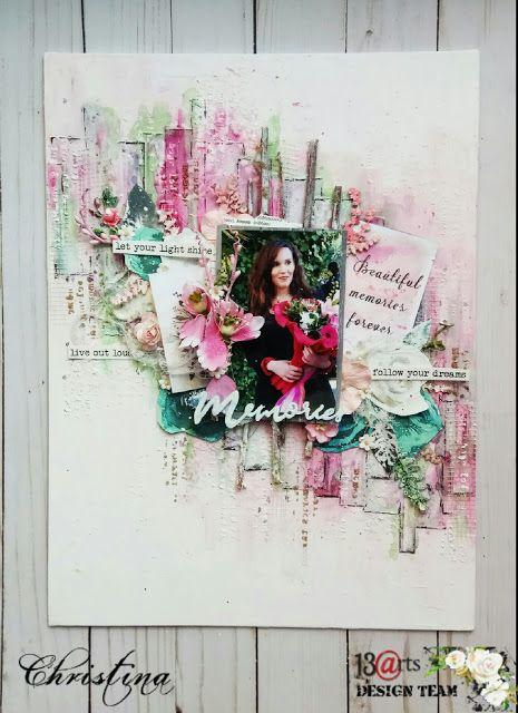 "13arts: ""Memories"" mixed media canvas by Christina"