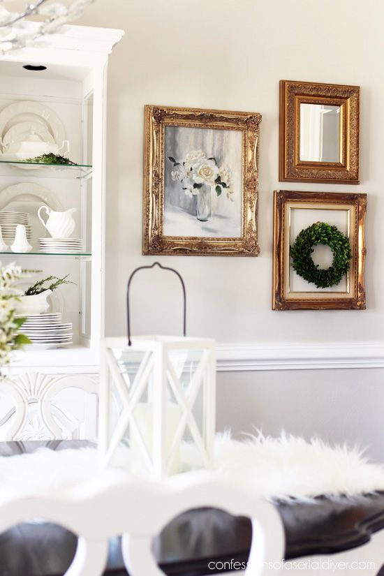 Inexpensive Wall Decor From Thrift Store Frames From Fascinating Picture Frames For Dining Room Inspiration Design