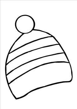 Bonnet en mosaïque et pompon
