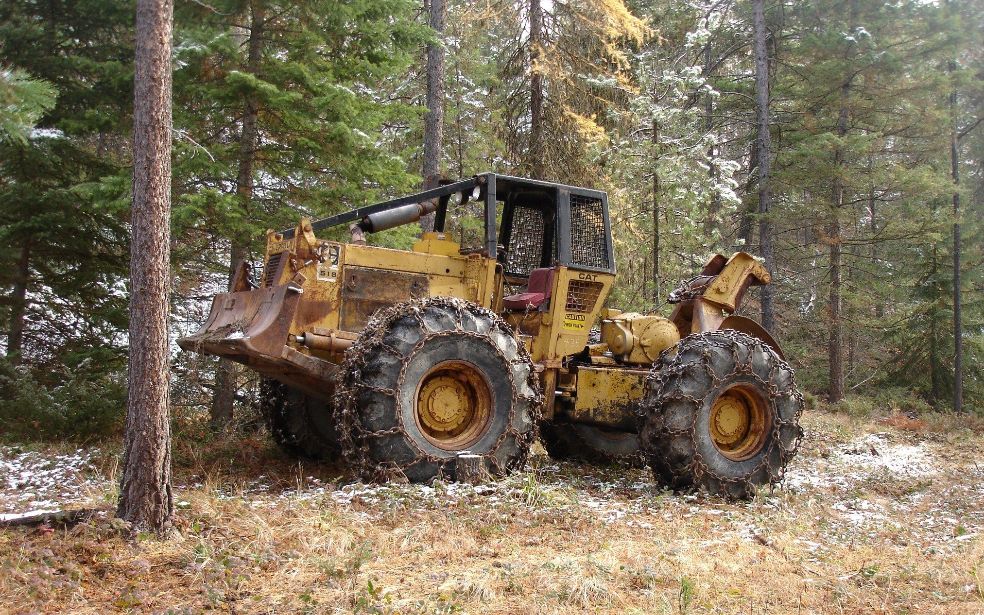 cat 518 Skidder | Machines I've worked on | Logging