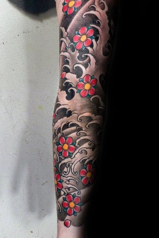 b18607bb1 100 Cherry Blossom Tattoo Designs For Men - Floral Ink Ideas | 1/4 ...
