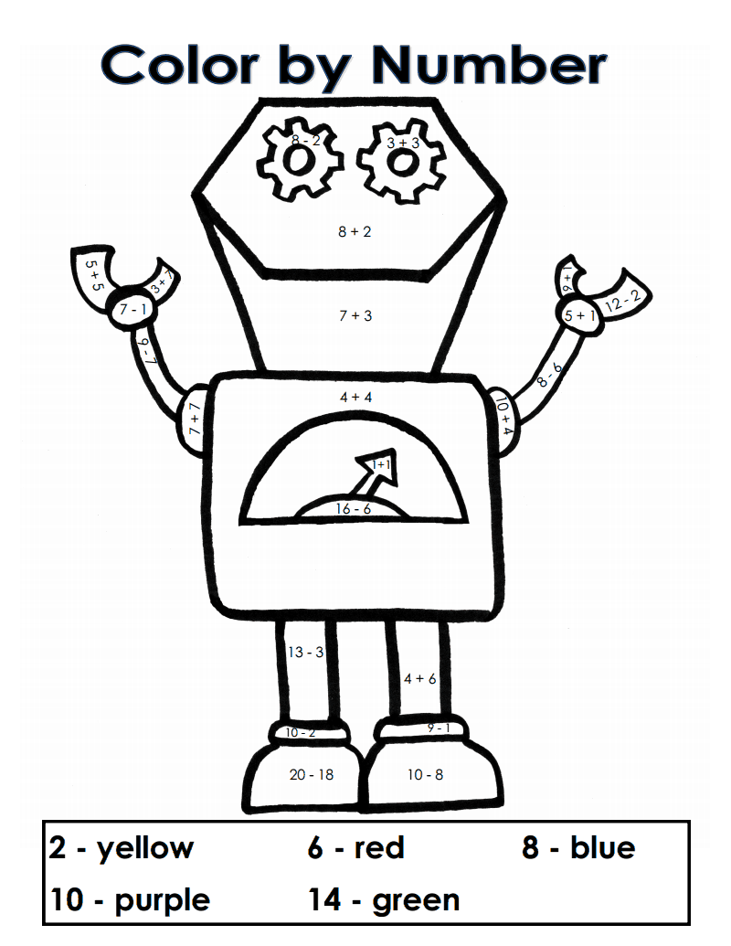 Color by Number Robots.Addition Subtraction.Kerridwens.pdf