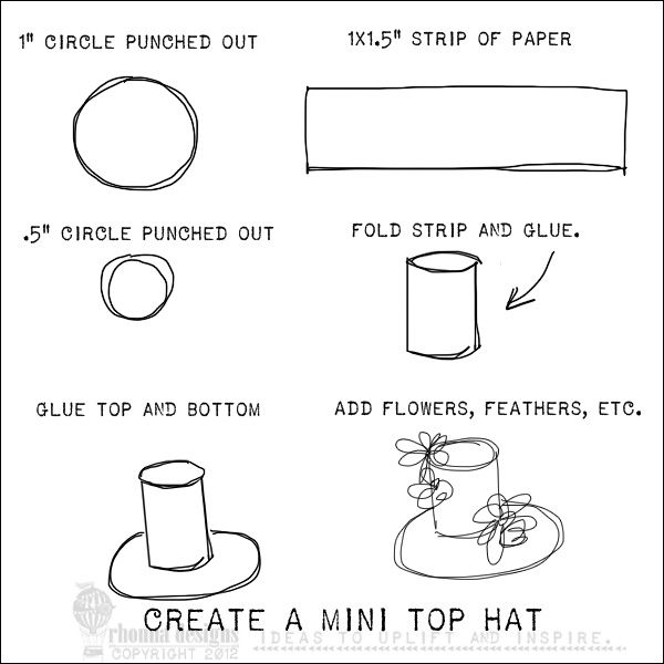 Mini top hat printable pattern this little bird just for Easter hat template printable