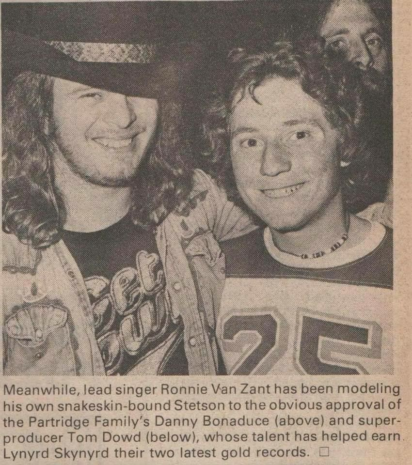 Ronnie Van Zant Quotes Ronnie Van Zant Lead Singer Of Lynyrd Skynyrd With Danny Bonaduce