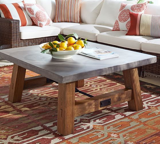Super Abbott Square Coffee Table Brown Furniture Coffee Table Pabps2019 Chair Design Images Pabps2019Com