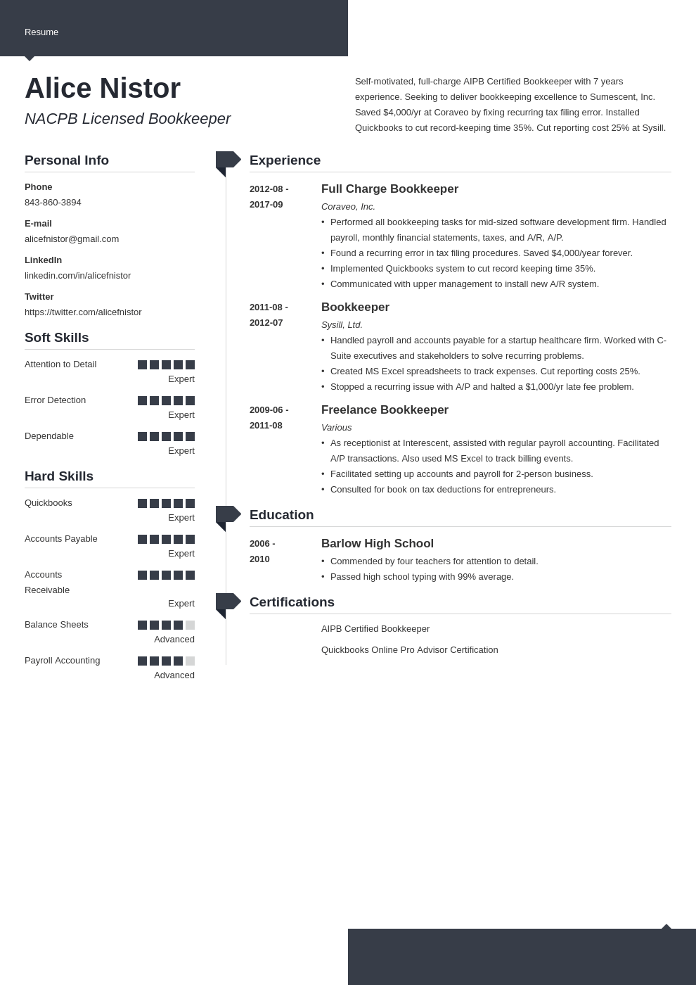 bookkeeper resume example template modern in 2020 Job