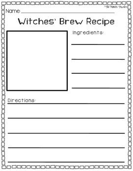 write a witches brew recipe for halloween kids coffee